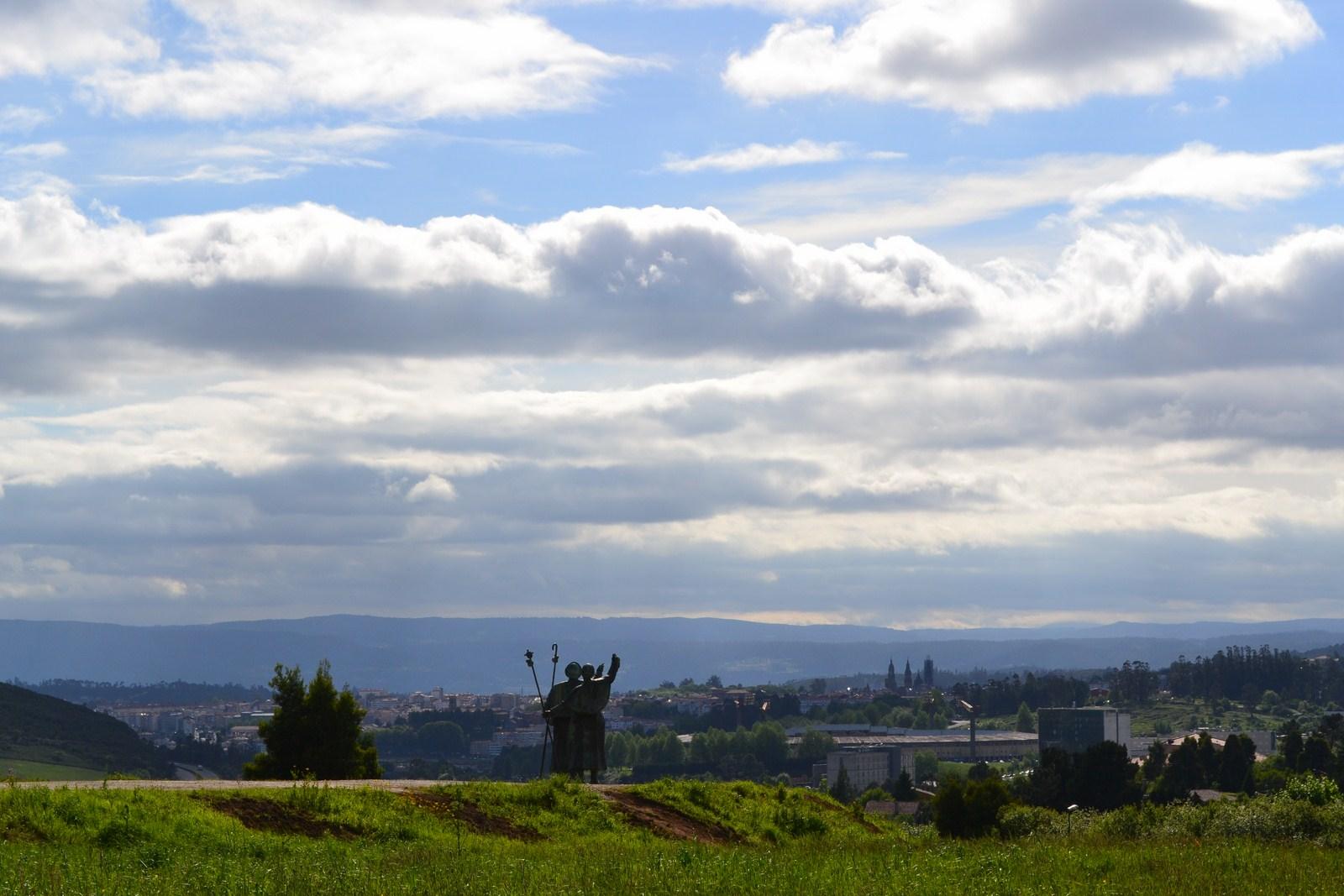 Monte do Gozo Widok na Santiago de Compostela