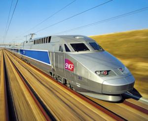 TGV we Francji- podróż na camino