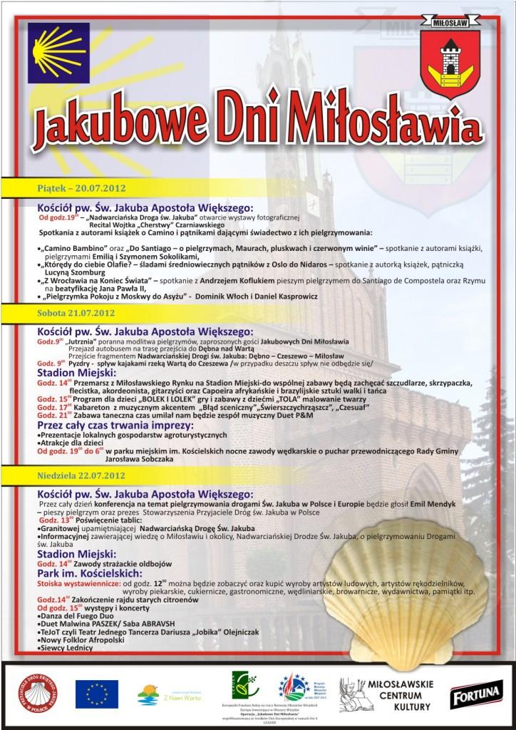 Jakubowe Dni Miłosławia-program