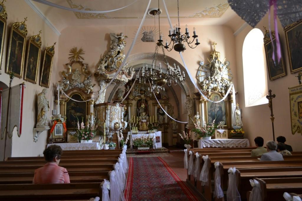 parafia brożec wnętrze kościoła św jakuba