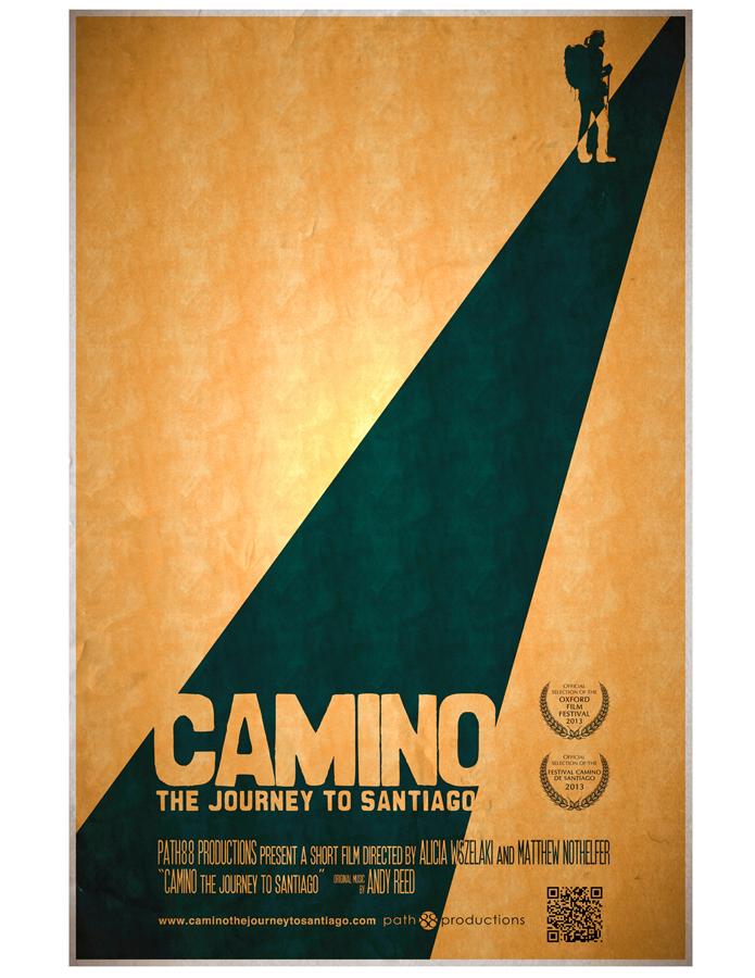 Camino Journey to Santiago plakat