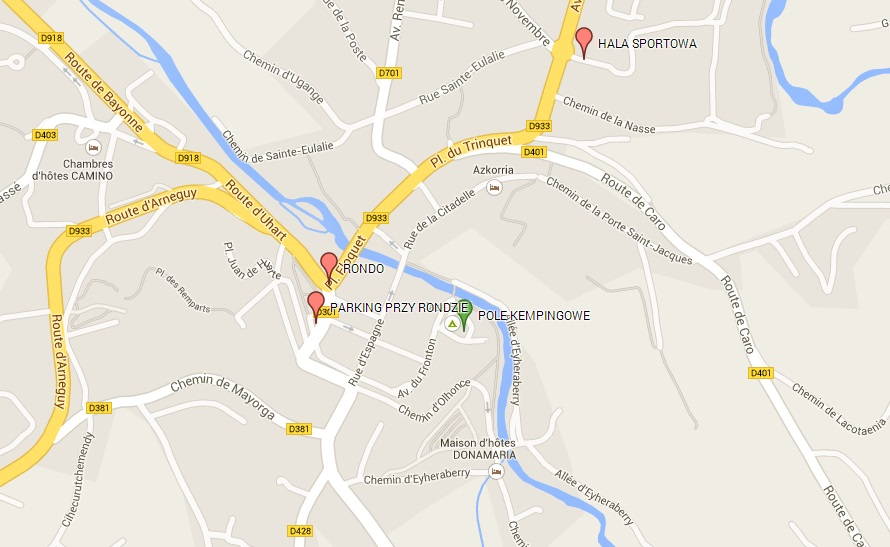 mapa saint jean pied de port parking