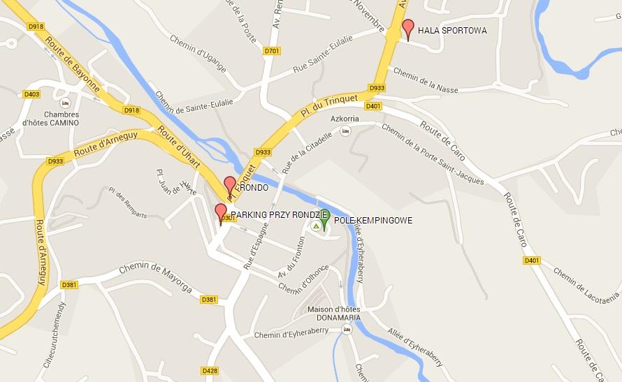 mapa saint jean pied de port parking