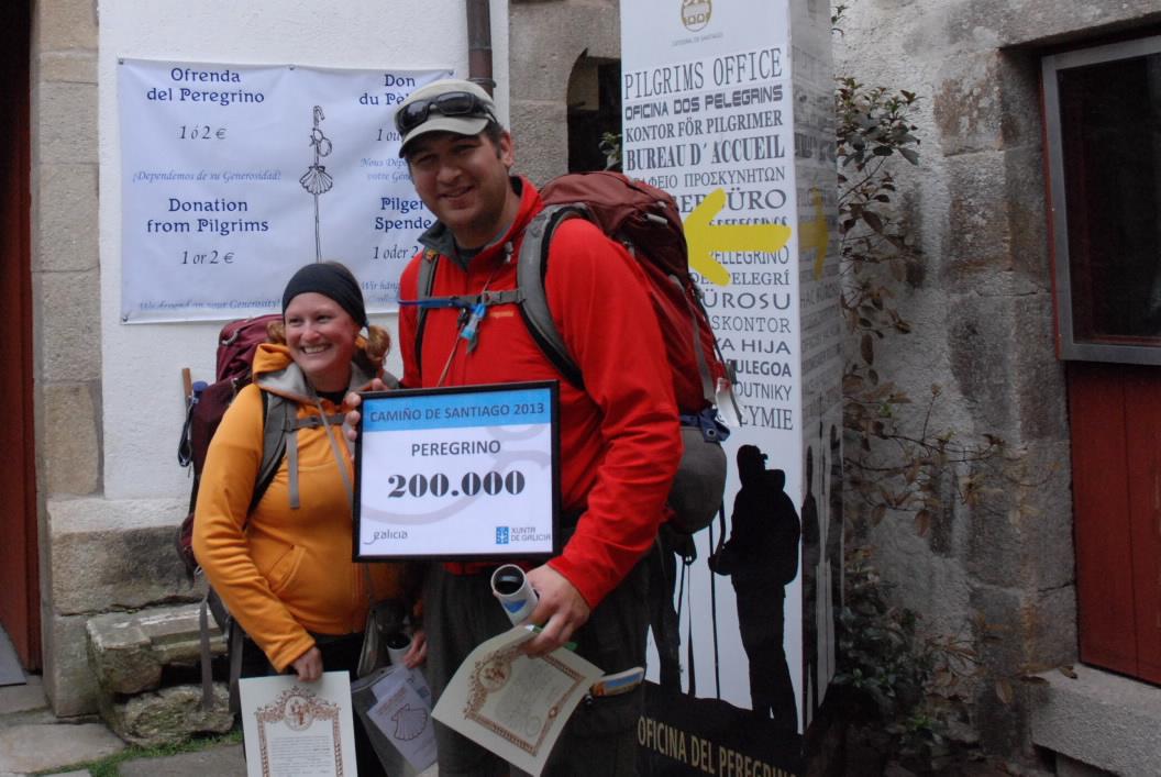 Stephen Wood- szczęściarz z Kanady, który dotarł do Santiago jako 200-tysięczna osoba w tym roku.
