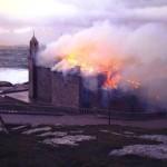 pożar sanktuarium w Muxia