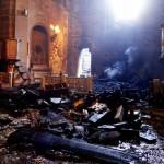 spalone wnętrze kościoła w Muxia
