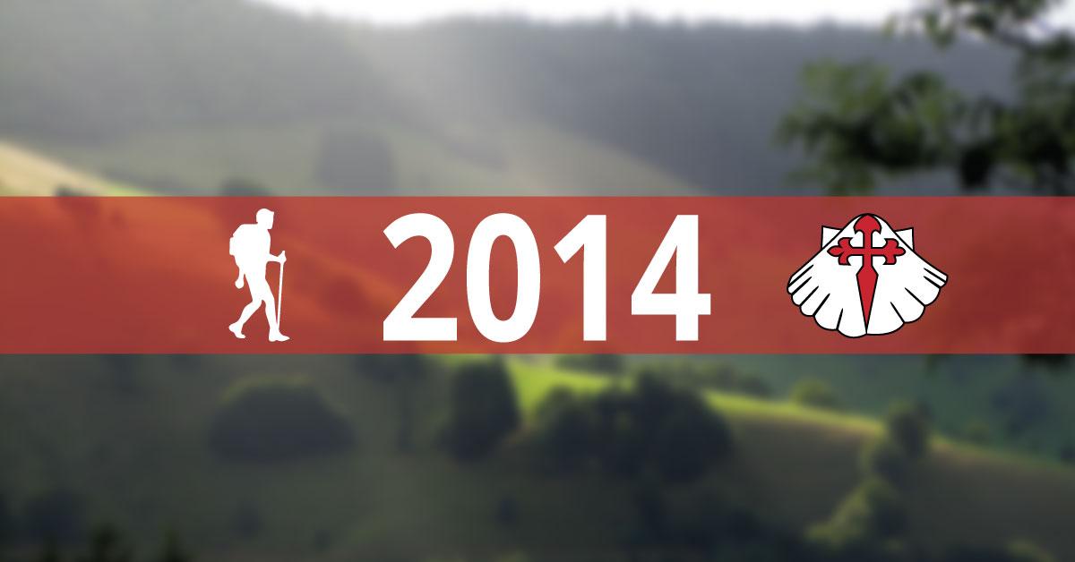 Jak minął rok 2014 na Camino de Santiago.