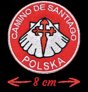 naszywka 8cm camino de santiago