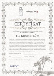 Certyfikat Camino Fisterra i Muxia
