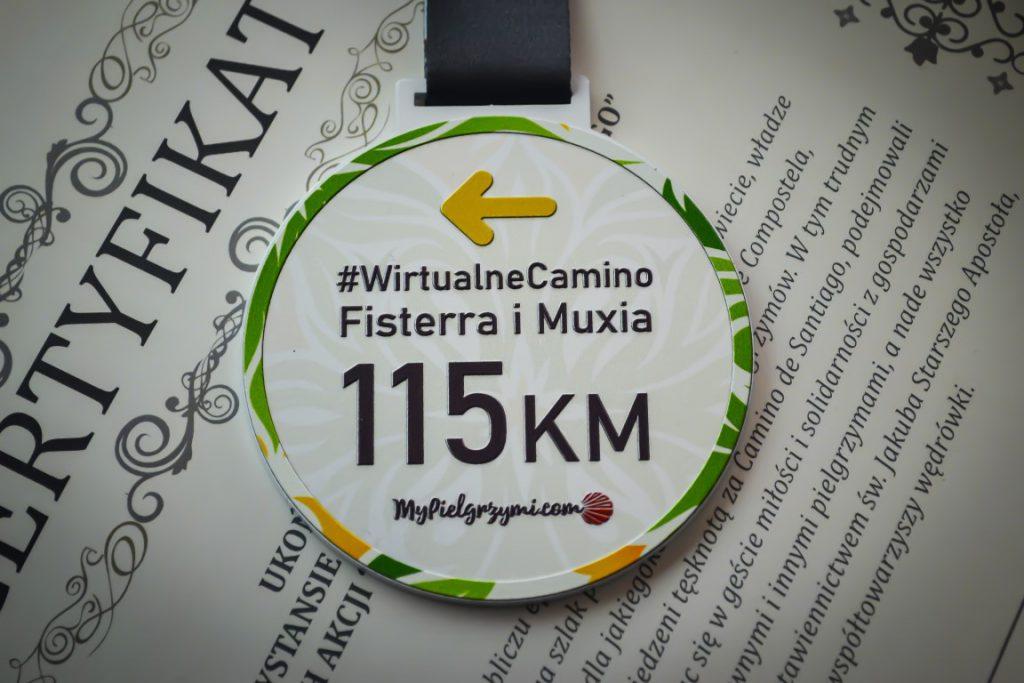 Wirtualne Camino de Santiago Fisterra Muxia 115km