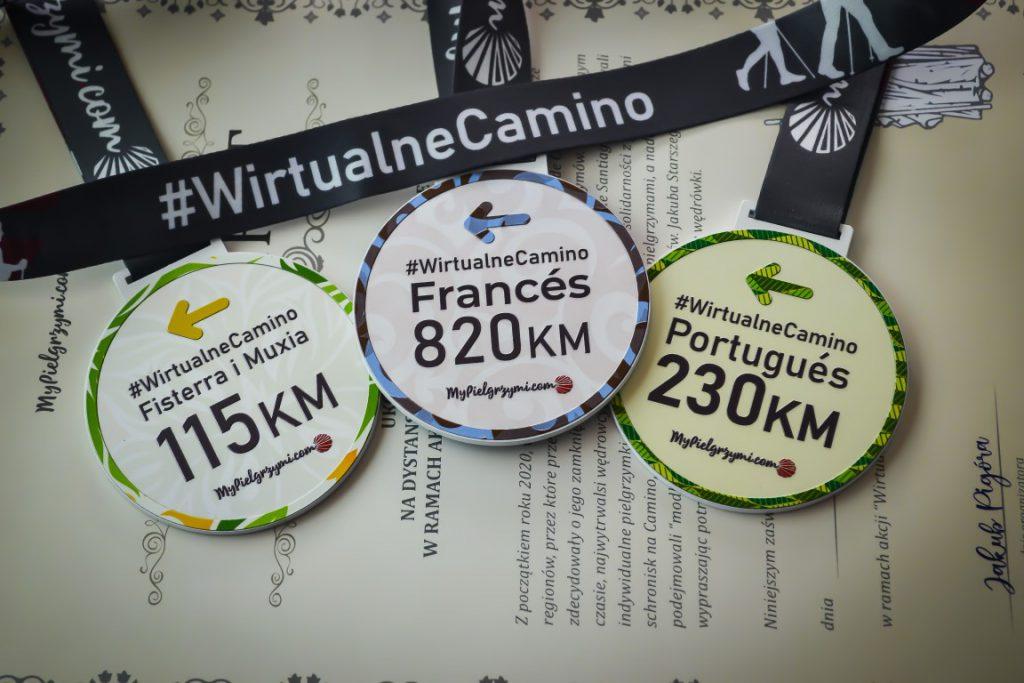 Wirtualne Camino Medale