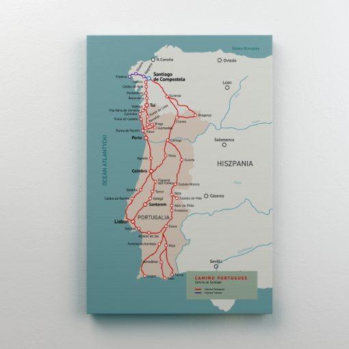 Mapa Camino Portugues