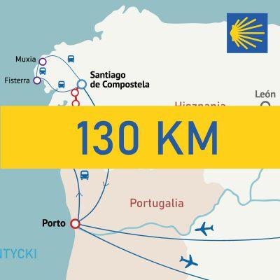Camino Portugues nadmorskie z Baiona 130km