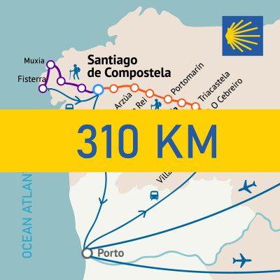 Camino Frances Finisterra 310 km